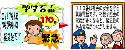 正しい110番の利用方法   通信指令室・110番   千葉県警察